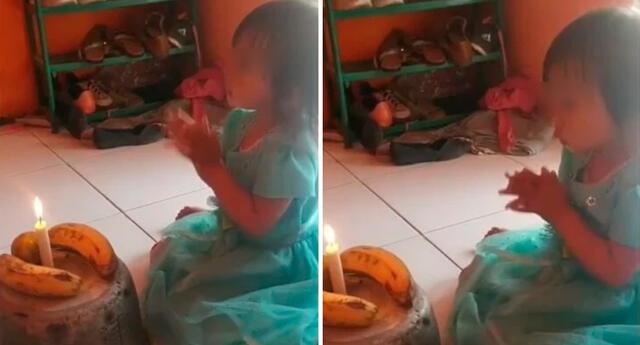 La pequeña celebró su cumpleaños en compañía de su familia.