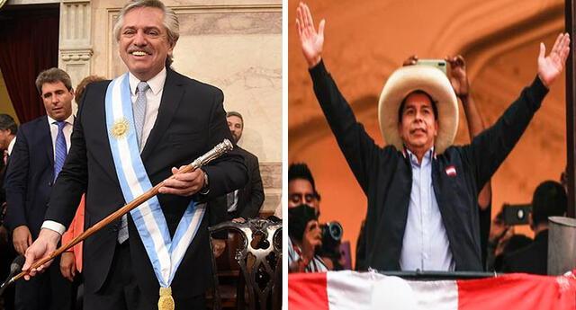 Pedro Castillo es reconocido presidente por Alberto Fernández, presidente de Argentina.