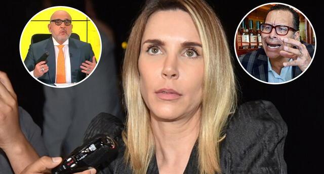 Juliana estalla contra los ataques de Beto Ortiz y Phillip Butters, de Willax.