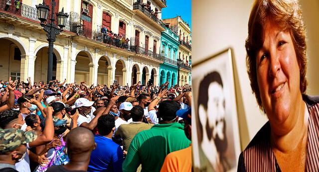 Las protestas en Cuba fueron comentadas por Aleida Guevara March. Foto: composición/AFP/difusión