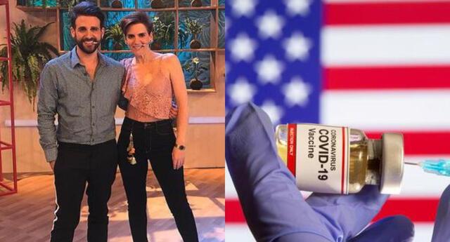 Rodrigo González y Gigi Mitre se vacunaron contra el coronavirus en Miami, y contaron cómo es el rápido proceso en Amor y fuego.