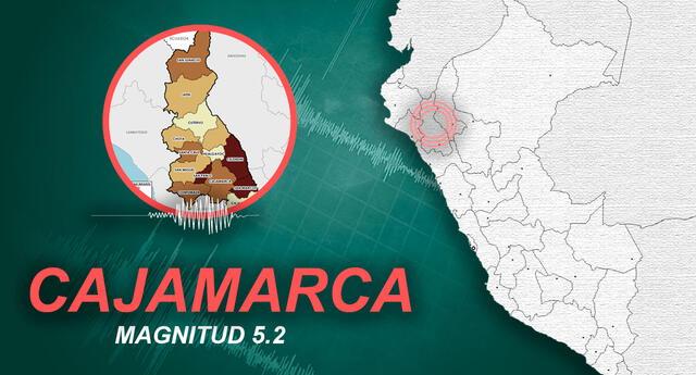 Sismo en Cajamarca ocurrió a las 10:07 de la mañana de este miércoles, según IGP.