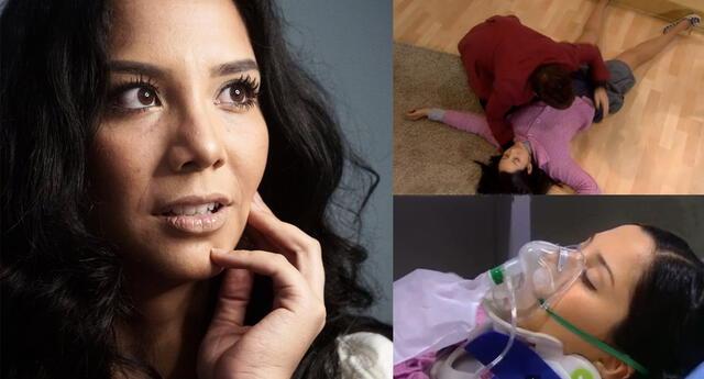 Mayra Couto grabó escena cuando Grace rodó por gradas en serie Al fondo hay sitio.