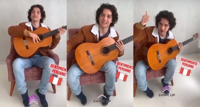 """Vasco Madueño agradeció el cariño del público, e invitó a todos a poder verlo en su show """"Sentimiento peruano"""" en unos días."""