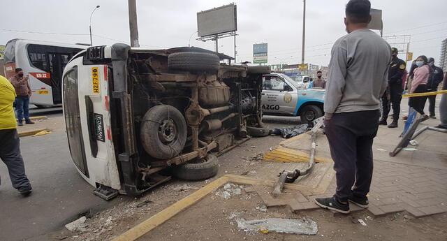 Bus de transporte público embistió a dos peatones en concurridas avenidas de SMP.