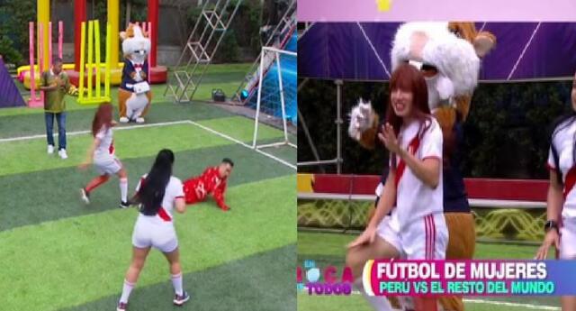 La Uchulú intentó darle el triunfo al Perú en las Olimpiadas de EBT.