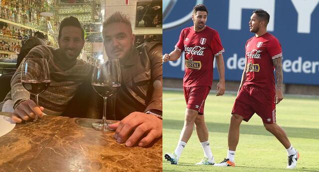 Claudio Pizarro y Juan Manuel Vargas llamaron la atención en las redes sociales.