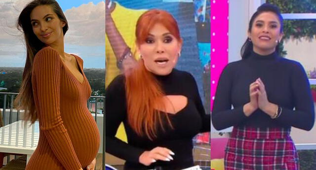 Magaly Medina llenó de elogios a Natalie Vértiz y cuestionó a Maricarmen Marín, lo que enfureció a cibernautas pues todos los embarazos son diferentes.