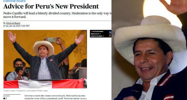 """Para la reconocida revista, Castillo """"debería dotar a su gabinete no solo de leales al partido y una pizca de tecnócratas"""