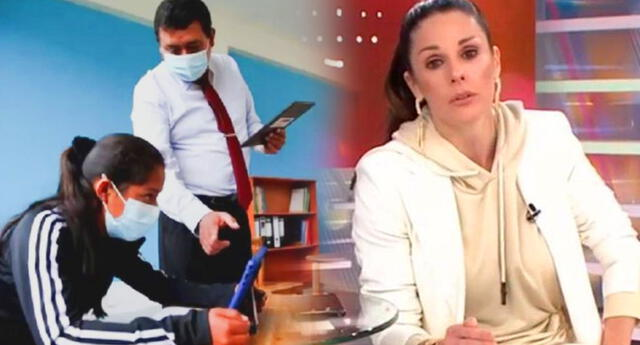 Rebeca Escribens pidió a sus televidentes que se vacunen.