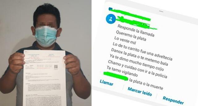 Amenazado pide a la Policía garantías para su vida y la de su familia.
