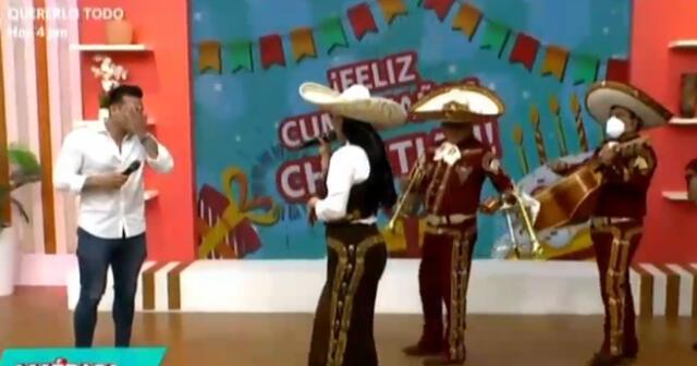 Christian Domínguez se emociona hasta las lágrimas por sorpresa de Pamela Franco.