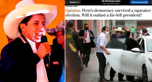"""""""Perú ha elegido y sobrevivido a presidentes mal preparados en el pasado; con suerte, Castillo no será la excepción"""", sentenció el diario estadounidense."""