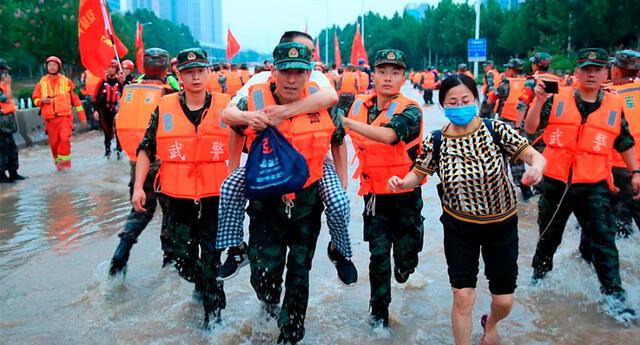 Tras las devastadoras inundaciones, China se prepara para el tifón In-Fa.
