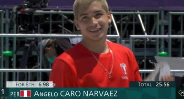 Angelo Caro quedó entre los cinco mejores del Skateboarding en los Juegos Olímpicos.