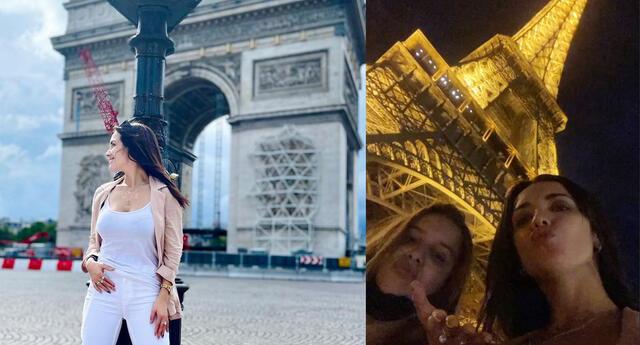Rosángela Espinoza cumplió anhelado sueño de conocer París.