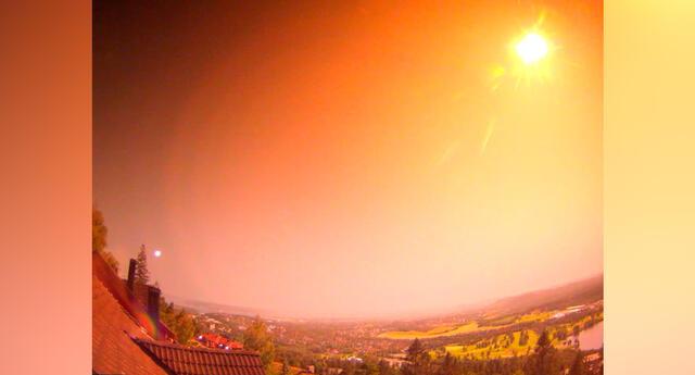 El meteoro iluminó el cielo por un breve tiempo como a plena luz del día, justo después de la 1 a.m.