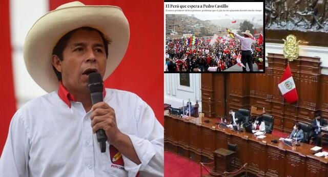 El medio español precisó que Pedro Castillo afrontará su gobierno en un país golpeado por la pandemia de coronavirus.