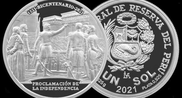 Nueva moneda a puertas de los 200 años de independencia del Perú.
