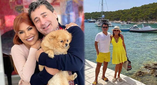 Magaly Medina y Alfredo Zambrano disfrutan de su luna de miel en Europa.
