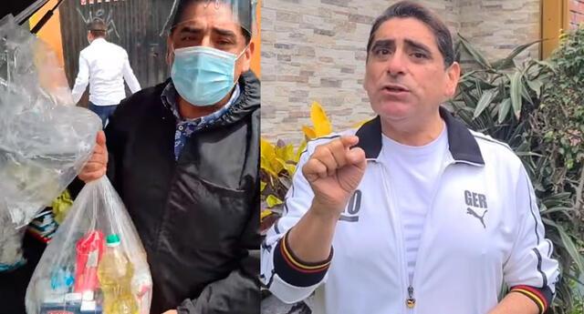 Carlos Álvarez lleva donaciones a damnificados por sismo.