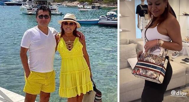 Magaly Medina se da sus gustitos en Croacia y va de compras a 'Dior