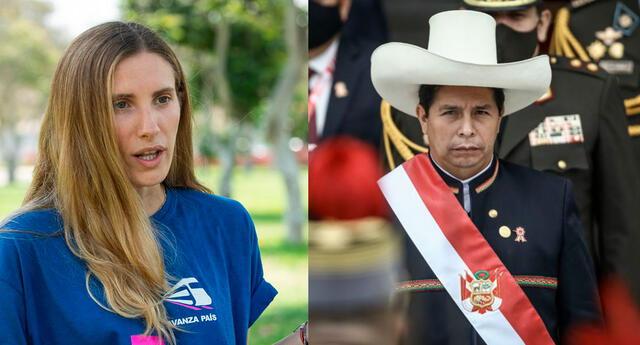 Adriana Tudela busca la vacancia presidencial de Pedro Castillo
