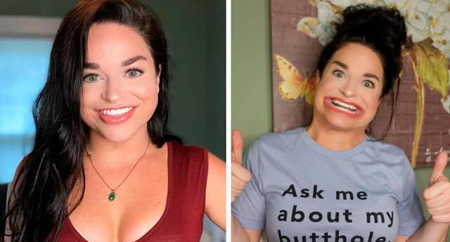 La joven se hizo viral en TikTok por los trucos divertidos e inusuales que puede realizar con la boca.