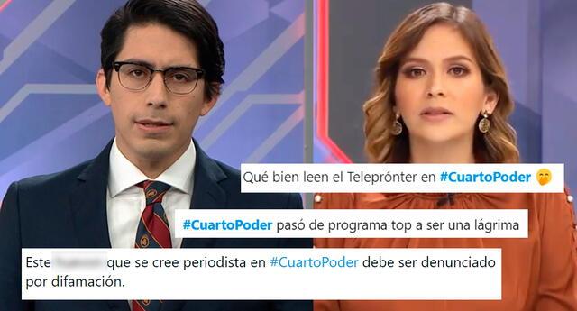Los conductores Sebastián Salazar y Tatiana Alemán fueron cuestionados por usuarios de Twitter.