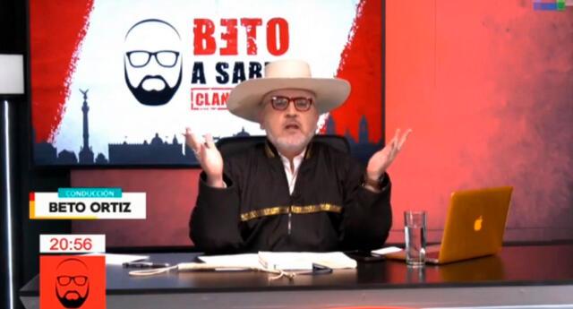 """""""A partir de ahora este atuendo será la ropa para el quinceañero"""", dijo Beto Ortiz en su programa."""