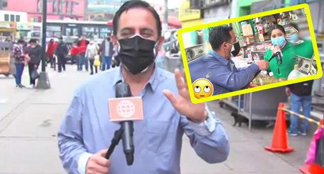 Reportero de América Hoy troleado por comerciante trata de pasar piola.