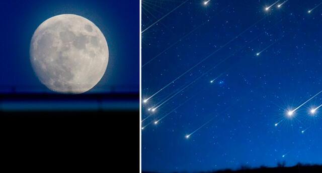 Luna azul y lluvia de estrellas Perseidas se podrán ver en el mes de agosto