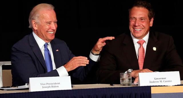 El presidente de Estados Unidos, Joe Biden, y Andrew Cuomo.