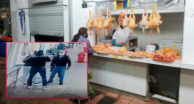 Ladrones asaltaron a trabajador de venta de pollos.