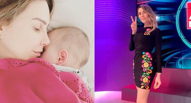 Juliana Oxenford compartió una emotiva publicación donde se le ve dando de lactar a su pequeño hijo.