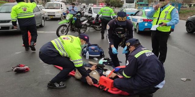 Imprudencia casi le cuesta la vida a motociclista