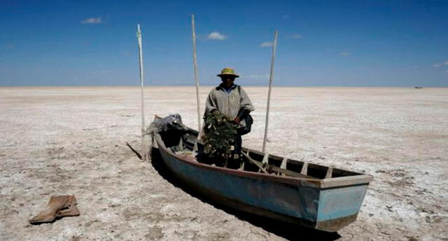 Lago Poopó, el segundo lago más grande de Bolivia.