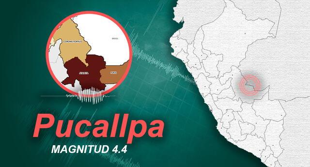 Temblor en Pucallpa de magnitud 4.4