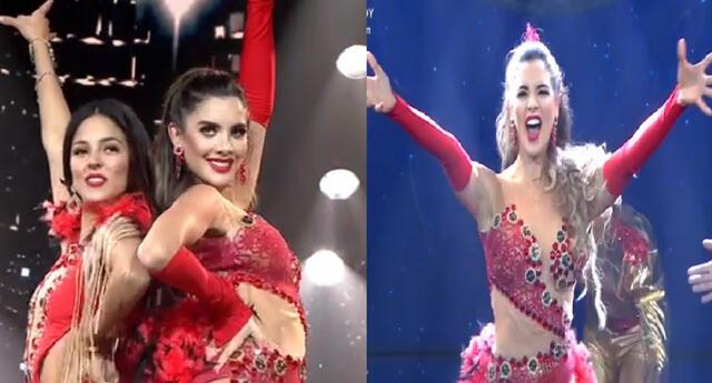 Korina Rivadeneira y Luciana Fuster prendieron la pista de Reinas del show.