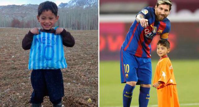 Murtaza Ahmadi cumplió su sueño de conocer a Lionel Messi. Foto: Reuters/Difusión