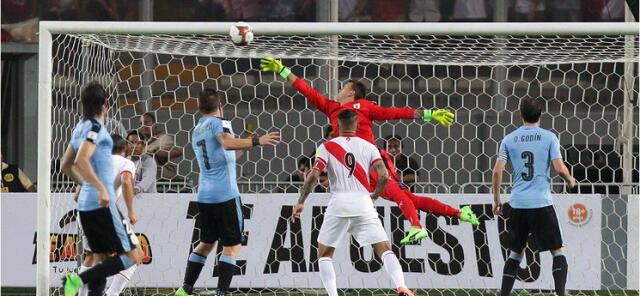 Perú derrotó 2-1 a Uruguay  por las clasificatorias al Mundial Rusia 2018.