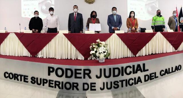 Autoridades del Callao se comprometen a fortalecer la justicia