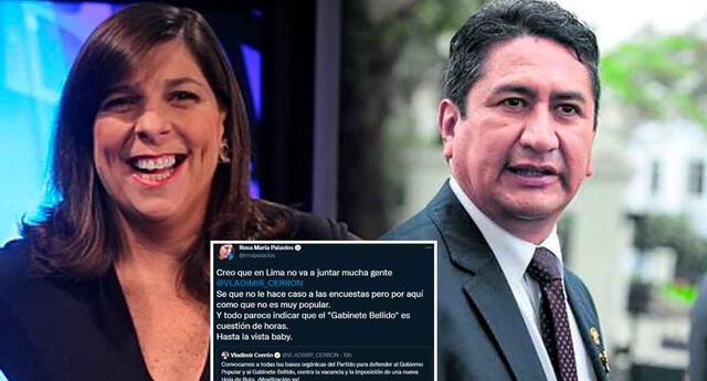 Rosa María Palacios le dejó un cálido mensaje a Vladimir Cerrón.