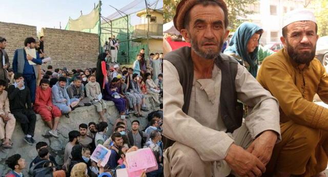 Miles de afganos intentan escapar por todas la vías de los talibanes.