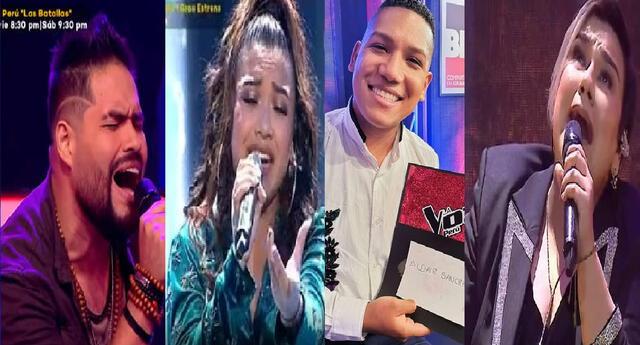 Randy Feijoo, Valeria Zapata, Aldair Sánchez y Marcela Navarro en la Gran Final de La Voz Perú.