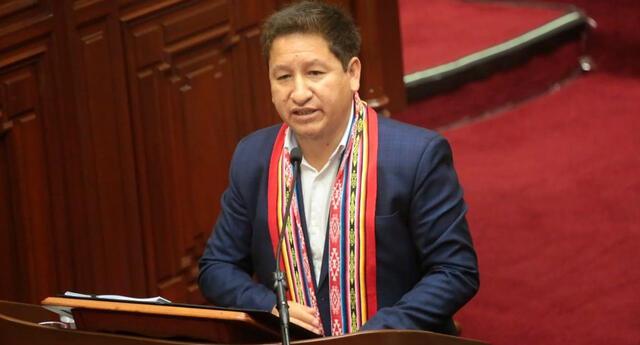 Guido Bellido busca el voto de confianza en el Congreso de la República.