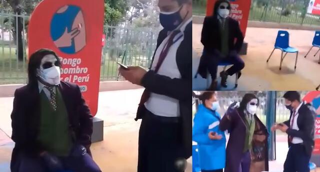 Peculiar video del joven vestido de 'Wason' se hizo viral en las redes sociales.