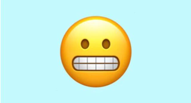 Emoji de la carita con los dientes apretados de WhatsApp