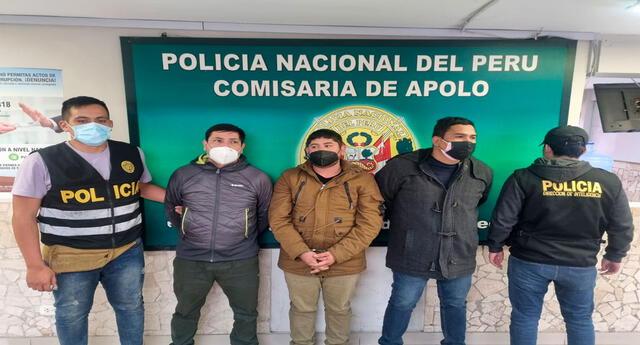 Los detenidos en la comisaría