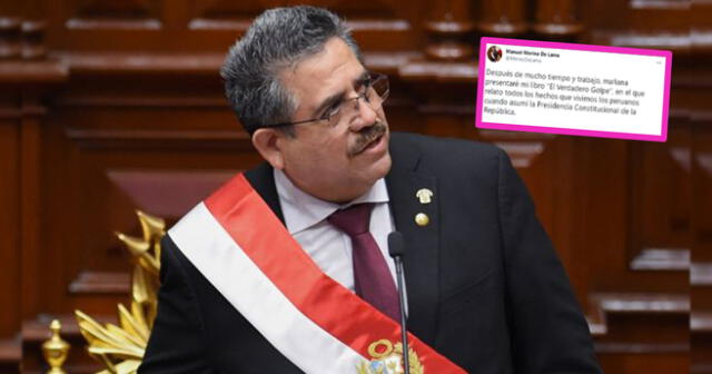 Manuel Merino es criticado al decir que no tiene culpa por muerte de Inti Sotelo y Bryan Pintado | Foto: La República/Composición